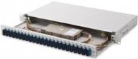 Digitus Оптична панель 19'' 1U, 24xSC duplex, SM, incl. splice cassette, pigtails OS2, adapter