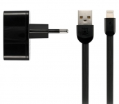 Remax 2.4 A Dual USB Charger + Data Cable [RP-U215I-BLACK]