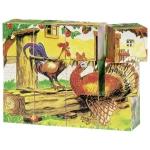 goki Кубики дерев'яні - Ферма