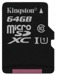 Kingston microSD C10 UHS-I Canvas Select [SDCS/64GBSP]