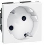 Legrand MOSAIC розетка Schuko под углом 45° 16А 250В без шторок винтовые клеммы (2мод) белый