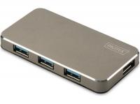 Digitus 4 порта, USB 3.0, активный с БП, Matt black