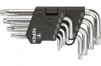 Topex 35D950: Ключi Torx (зiрочки), TS10-50, набiр 9 шт.*1 уп.