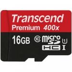 Transcend microSDXC/SDHC Class 10 UHS-I 300x (Premium) [TS16GUSDU1]