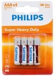Philips LongLife Zinc Carbon [R03L4B/10]