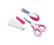 Nuvita Набір по догляду за дитиною (0м+, рожевий, безпечні ножиці з акс.)