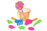 Same Toy Набір для гри з піском - з повітряної вертушкою (оранжеве відро) 9 шт
