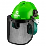 Verto 97H300 Щиток захисний для особи з навушниками і каскою, 3 в 1