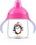 Avent Чашка-непроливайка з твердим носиком 260 мл 12+ (рожева)