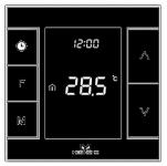 MCO Home Розумний термостат для керування електричною теплою підлогою, Z-Wave, 230V АС, 16А, чорний