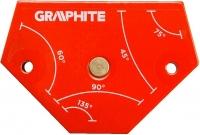 Verto Cварочный угольник магнитный GRAPHITE 56H904, 64x95x14мм, угол 45, 60, 75, 90, 135град.,сила 11,4 кг