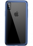 Baseus Hard And Soft Border для iPhone X [Dark blue (FRAPIPHX-15)]