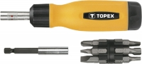 Topex 39D518 Насадки з тримачем, набiр у футлярах 14 шт.*1 уп.