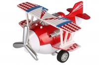 Same Toy Літак металевий інерційний Aircraft зі світлом і звуком (червоний)