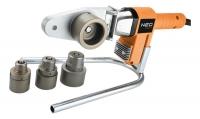 Neo Tools Паяльник для пластикових труб, 650 Вт, 4 насадки, PTFE-покриттяб, 260°С, 4,4кг, кейс
