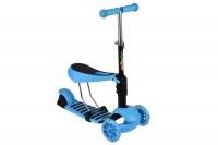 Same Toy Трьохколісний самокат-біговел з сидінням (блакитний)