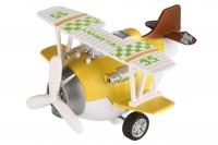 Same Toy Літак металевий інерційний Aircraft зі світлом і звуком (жовтий)