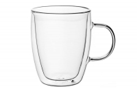 ARDESTO Набор чашек с ручками с двойными стенками для латте, 270 мл, 2 шт, боросиликатноестекло