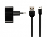 Remax 2.4 A Dual USB Charger + Data Cable [RP-U215M-BLACK]