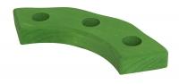 nic Підсвічник святковий дерев'яний напівкруглий зелений