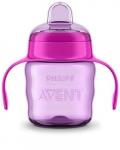 Avent Чашка-непроливайка з м'яким носиком 200 мл 6 + (рожева)
