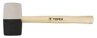 Topex 02A355 Киянка гумова 63 мм, 680 г, чорно-бiла гума