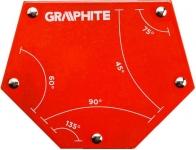 Verto Cварочный угольник магнитный GRAPHITE 56H905, 111x136x24мм, угол 45, 60, 75, 90, 135град.,сила 34 кг