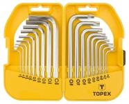 Topex 35D952 Ключi шестиграннi HEX i Torx, набiр 18 шт.*1 уп.