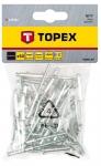 Topex 43E302 Заклепки алюмiнiєвi 3.2 мм x 10 мм, 50 шт.*1 уп.