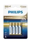 Philips Premium Alkaline [LR03M4B/10]