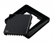 HeatIt Рамка Heatit для термостата, пластикова, з кнопкою, чорна