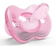 Nuvita Orthosoft ортодонтична Light 0м+ рожева