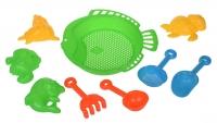 Same Toy Набір для гри з піском зелений (9 од.)