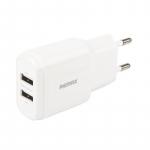 Remax RP-U22 2хUSB Lightning Data Cable white 2.4A white