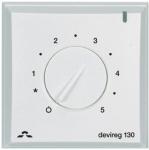 Danfoss Терморегулятор DEVIreg 130, (+ 5 + 45С), механічний, датчик на проводі 3м, 82 х 82мм, макс. 16A, білий