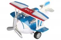 Same Toy Літак металевий інерційний Aircraft зі світлом і звуком (синій)