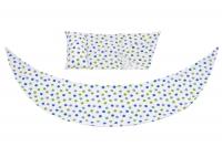 Nuvita Набір аксесуарів для подушки DreamWizard (наволочка, міні-подушка) Білий в крапку