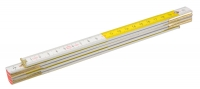 Topex 26C005 Метр складний дерев'яний 1 м, жовто-бiлий