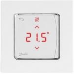 Danfoss Терморегулятор Icon Display, електронний, сенсорний, програмований, 230V, 80 х 80мм, In-Wall, білий