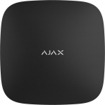 Ajax Інтелектуальний центр системи безпеки Smart Hub (GSM+Ethernet), 230V, Jeweller, чорний