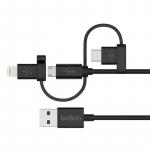 Belkin USB 2.0 Universal Micro-USB/ USB-C/ Lightning Connectors, 1.2m