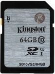 Kingston Class 10 UHS-I SDHC/SDXC [SD10VG2/64GB]