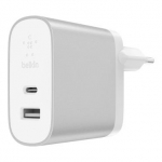 Belkin Home Charger (27W) Power Delivery USB-C 3.0A, (12w) USB-A 2.4A