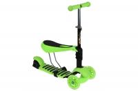 Same Toy Трьохколісний самокат-біговел з сидінням (зелений)