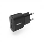 HAMA Мережевий зарядний пристрій 2*USB Wall Charger 2.4A