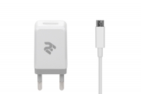 2E Набір Мережевий ЗП USB Wall Charger USB: DC5V / 2.1A + кабель [2E-WC1USB2.1A-CM]