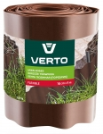 Verto Лента газонная 15 cm x 9 m, коричневая