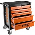 Neo Tools 84-224 Шкаф-тележка инструментальный, 5 выдвижных ящиков