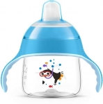 Avent Чашка-непроливайка с мягким носиком 200 мл 6+ (голубая)