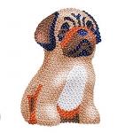 Sequin Art Набір для творчості 3D Large Lily Pug
